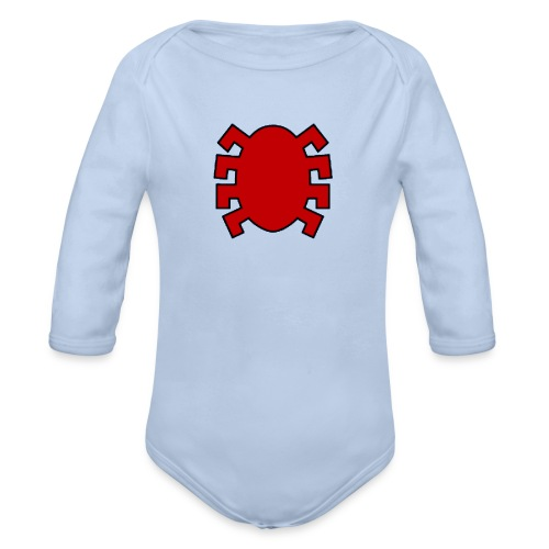 spiderman back - Organic Longsleeve Baby Bodysuit