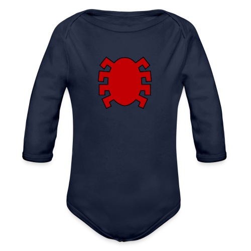 spiderman back - Organic Longsleeve Baby Bodysuit