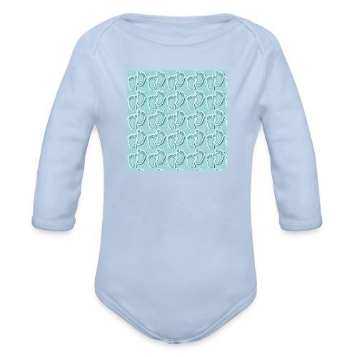 kidfootprint a9 - Organic Longsleeve Baby Bodysuit