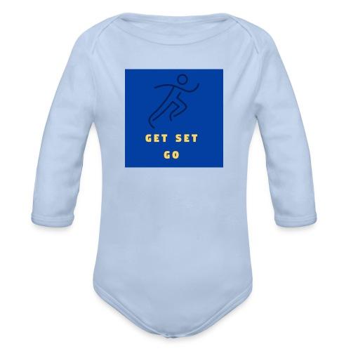 GET SET GO - Organic Longsleeve Baby Bodysuit