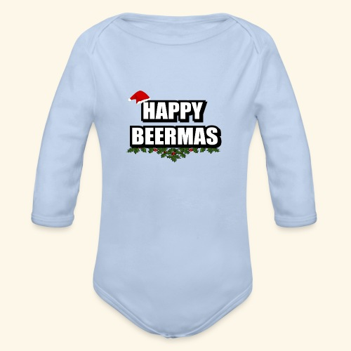 HAPPY BEERMAS AYHT - Organic Longsleeve Baby Bodysuit