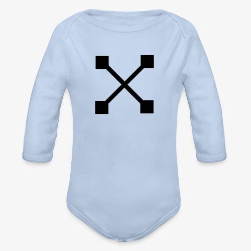 X BLK - Baby Bio-Langarm-Body