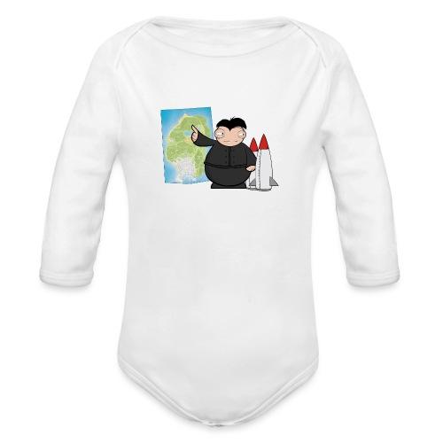 Happy Dictator. - Body orgánico de manga larga para bebé