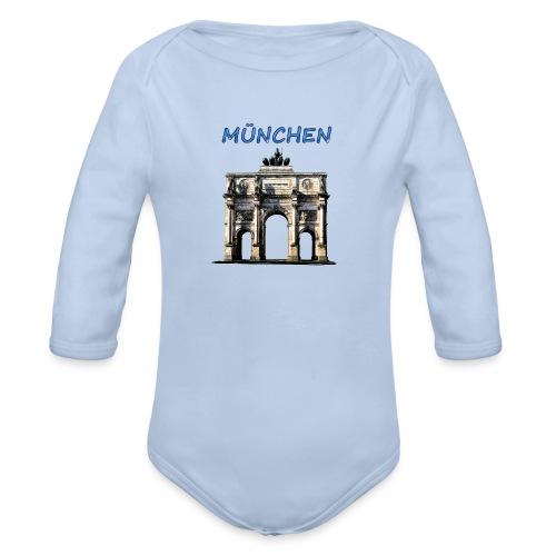 Münchnen Siegestor - Baby Bio-Langarm-Body