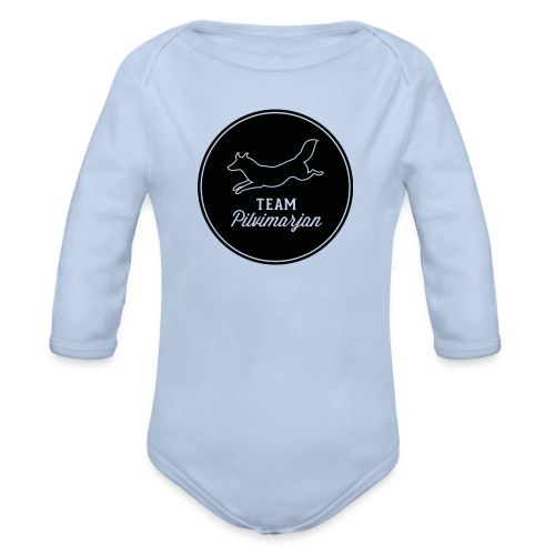 pilvimarjanlogomustaa - Vauvan pitkähihainen luomu-body