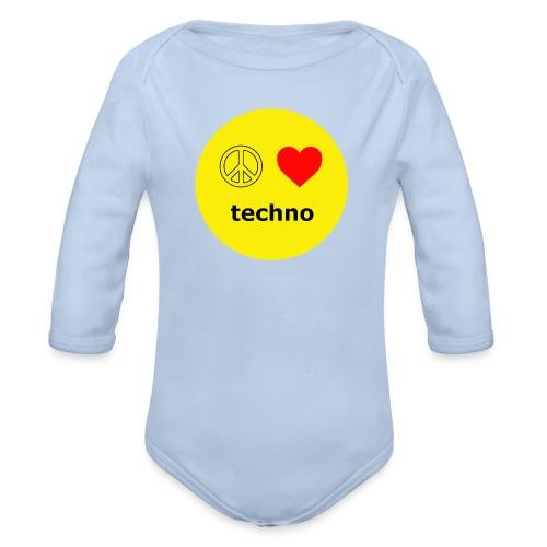 paz amor techno - Body orgánico de manga larga para bebé