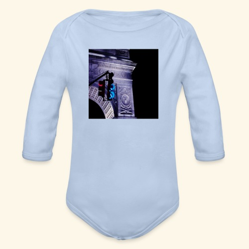 Semaforo americano - Body ecologico per neonato a manica lunga