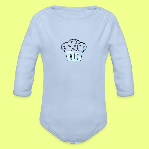 Pastel - Body orgánico de manga larga para bebé