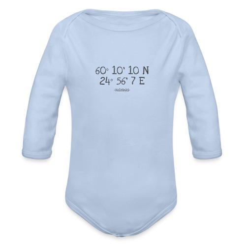 Helsinki Koordinaten - Baby Bio-Langarm-Body