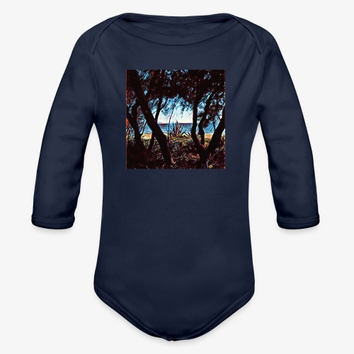 Vista mare dalla pineta - Body ecologico per neonato a manica lunga