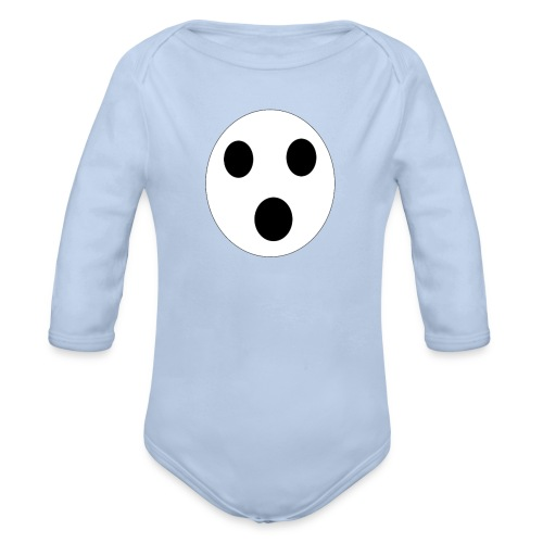 Sort Uni T-shirt - Langærmet babybody, økologisk bomuld