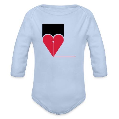 CUORE - Body ecologico per neonato a manica lunga