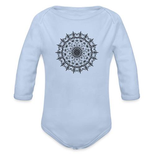 CircularOrnament25-800px - Body ecologico per neonato a manica lunga