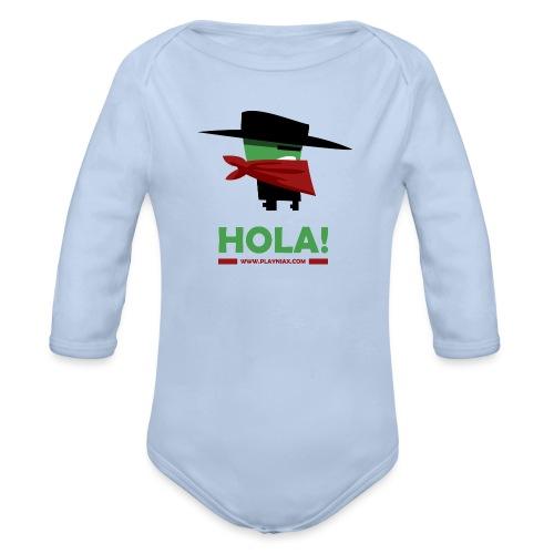 Greengo Hola - Baby bio-rompertje met lange mouwen