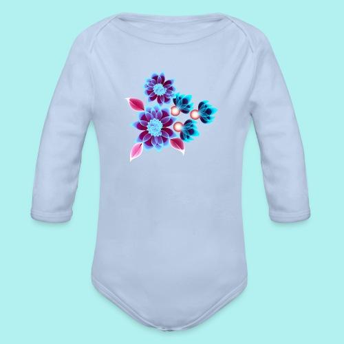 Hypnotic flowers - Body bébé bio manches longues