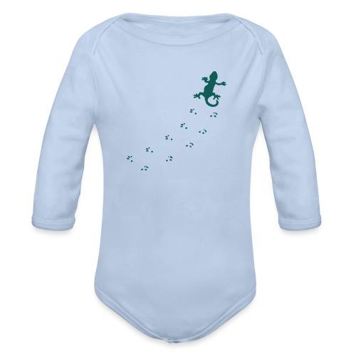 Messy Lizard Paws - Organic Longsleeve Baby Bodysuit