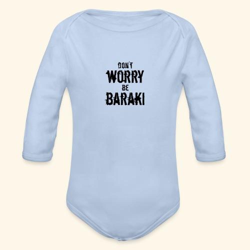 Be Baraki (Noir) - Body Bébé bio manches longues