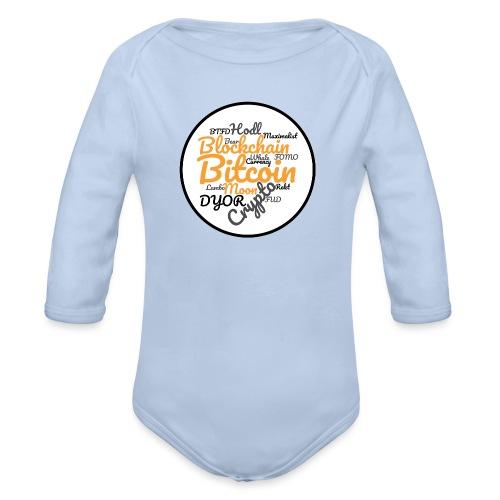 Bitcoin Tag Cloud - Organic Longsleeve Baby Bodysuit