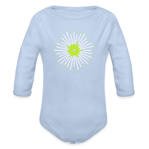 fancy_circle - Organic Longsleeve Baby Bodysuit