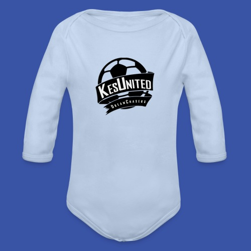 Zwart/Wit KesUnited - Baby bio-rompertje met lange mouwen