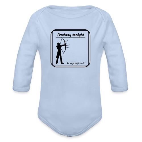 Archery tonight - Vauvan pitkähihainen luomu-body