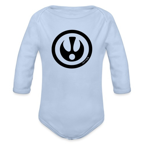 FITTICS DARK BLUE SHIELD - Organic Longsleeve Baby Bodysuit
