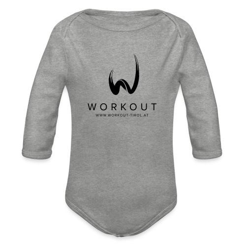 Workout mit Url - Baby Bio-Langarm-Body