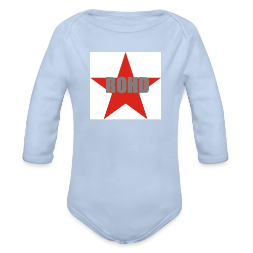 Stern_rot_Buegelmotiv - Baby Bio-Langarm-Body