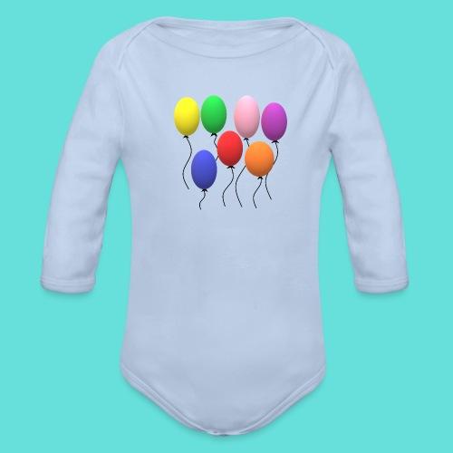 ballons - Body Bébé bio manches longues