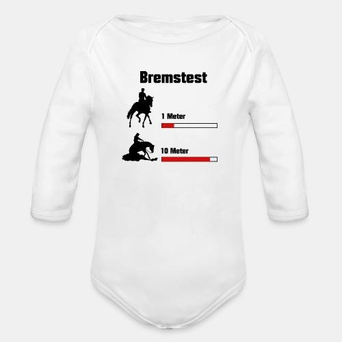 Bremstest - Baby Bio-Langarm-Body
