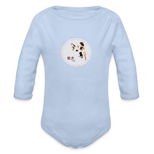 Shiba gris - Body bébé bio manches longues