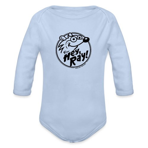 Hey Ray Logo black - Baby Bio-Langarm-Body