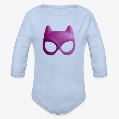 Bat Mask - Ekologiczne body niemowlęce z długim rękawem