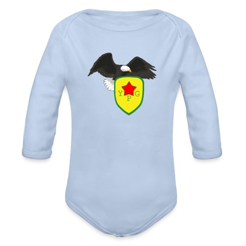Mens Support YPG Hoodie - Vauvan pitkähihainen luomu-body
