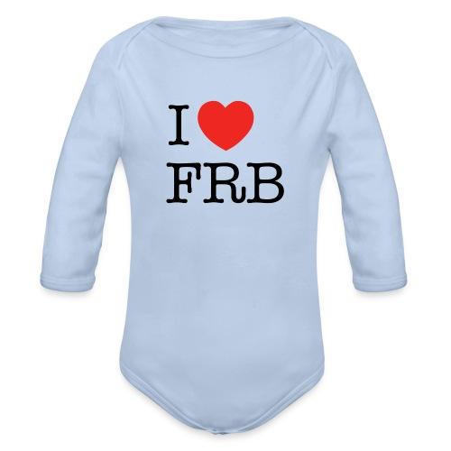 I Love FRB - Langærmet babybody, økologisk bomuld
