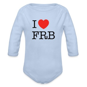 I Love FRB - Bestsellere - Langærmet babybody, økologisk bomuld