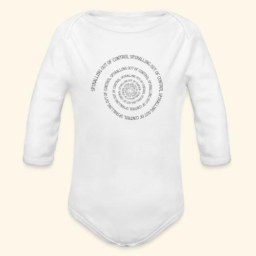 SPIRAL TEXT LOGO BLACK IMPRINT - Organic Longsleeve Baby Bodysuit