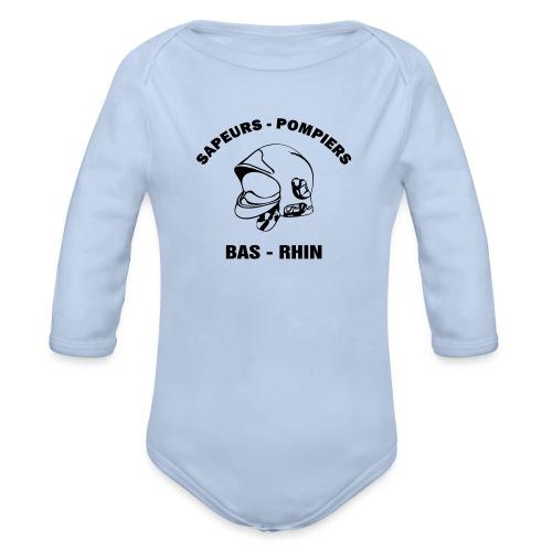 NOUVEAU ! Tee Shirt Sapeurs - Pompiers Bas - Rhin - Body Bébé bio manches longues