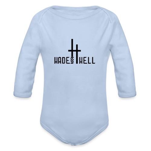 Hadeshell black - Baby Bio-Langarm-Body