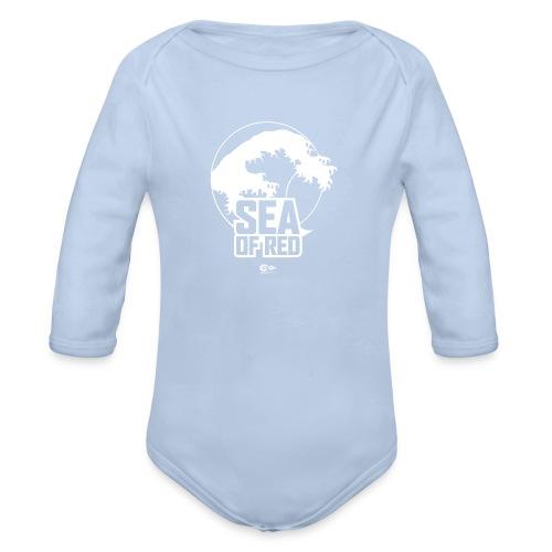 Sea of red logo - white - Organic Longsleeve Baby Bodysuit