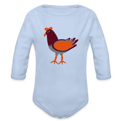 Cock.svg - Body ecologico per neonato a manica lunga