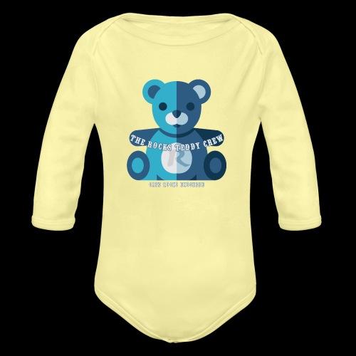 Rocks Teddy Bear - Blue - Baby bio-rompertje met lange mouwen