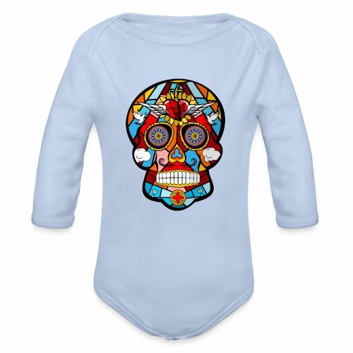 calavera mexicana - Body orgánico de manga larga para bebé