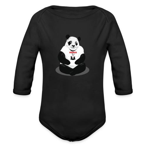 panda hd - Body Bébé bio manches longues