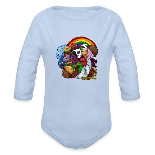Happy Colors - Baby Bio-Langarm-Body