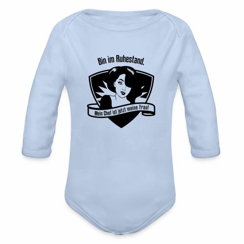 Ruhestand Comic - Baby Bio-Langarm-Body