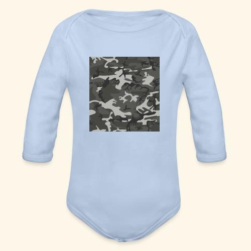 Camouflage militaire - Body bébé bio manches longues