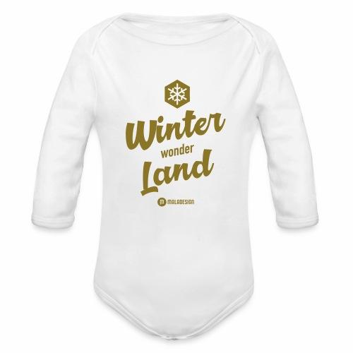 Winter Wonder Land - Vauvan pitkähihainen luomu-body