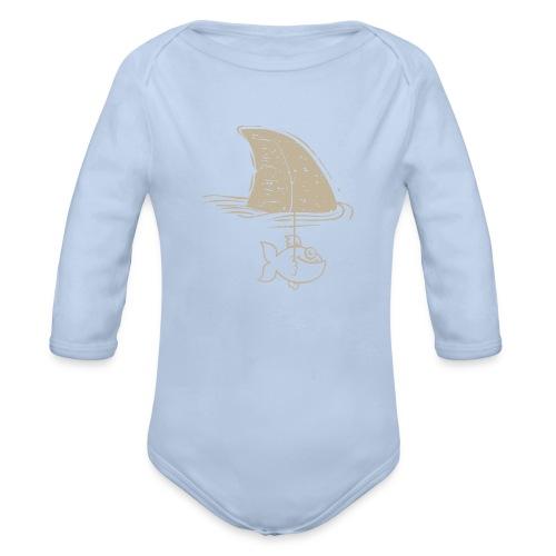 Tiburón - Body orgánico de manga larga para bebé