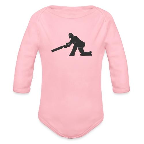 cricketer - Organic Longsleeve Baby Bodysuit